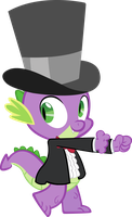 Spike in a tuxedo dancing by sapoltop