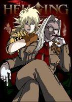 Sir Integra and Seras Love by GingerAnneLondon
