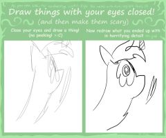 Draw Things With Your Eyes Closed Meme by xXtechieruffinxX