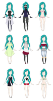 Fanyes outfits by Gaarasninjagirl