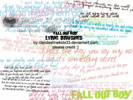 16 Fall Out Boy lyric Brushes. by cherno-alphas
