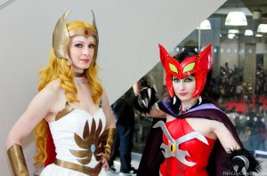 She-Ra and Catra by FireLilyCosplay