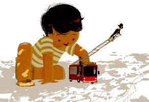 Something about a fire truck by PascalCampion