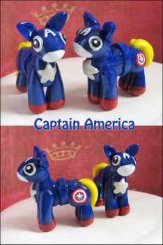 Captain America Ponies by balletvamp