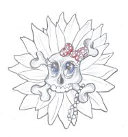 Girly Skull Flower by 2Face-Tattoo