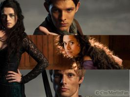 Arthur, Gwen, Merlin and Morgana by MagicalPictureMaker