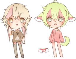 CLOSED AUCTION: 2MUCHSWAG 211-212 by Tochi-Adopts