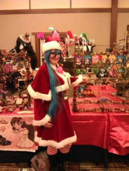 My Vendor's Booth at Holiday Matsuri 2013 by ToxicFoxxeh