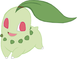 ~PokeBase~ Chikorita by YukiMemories