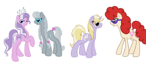 Adult Background Fillies by Otterlore