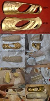 Loki Cosplay vambraces making-of remake tutorial by Mon-Kishu