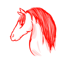 horse doodle by FoodStamps1