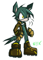 Murdoch -Sonic Battle Style- by glitchgoat