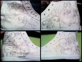 Adventure Time Sneakers n_n by Donovv