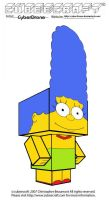 Cubeecraft - Marge Simpson by CyberDrone