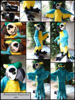 Blue Macaw Fur Suit by Antiquated-Inquirer