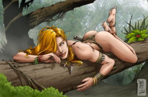 Shanna in the jungle by Seabra