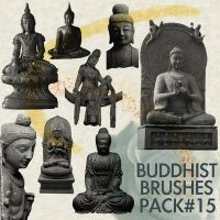 Photoshop Buddhist Brushes #15 by lotus82
