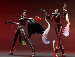 Bayonetta Dolls - Cereza and Jeanne by BatgirlXLoki