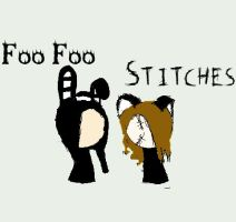 Foo Foo and Stitches by black-roses-falling