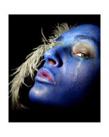 Yes, your blueness by PorcelainPoet