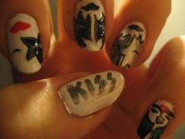 Kiss Nails by A-Lack-of-Rainbows