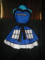 Doctor Who Tardis Cosplay Pinafore by DarlingArmy