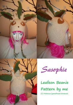 Leafeon beanie - FOR SALE by Sasophie