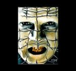 Hellraiser - Pinhead drawing by Dr-Horrible