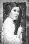 Leia 'A New Hope' Sketch by DenisDlugas