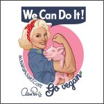 We Can Do It! Go Vegan! by AlbaParis