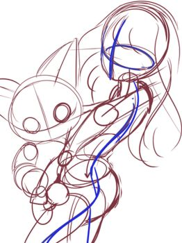 [WIP] Meiko and Meicoomon by moremindmel0dy