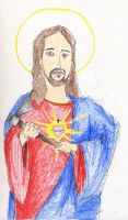jesus with a tomohawk by PointyJake