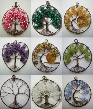 Tree of Life Pendant Collage by Pinkfirefly135