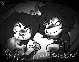 they wanna greet you a happy halloween by ChibiGuardianAngel