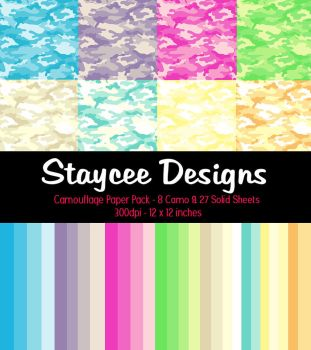 Camouflage Paper Pack by StacyO