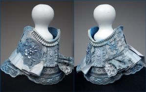 Blue fairy neck collar by Pinkabsinthe