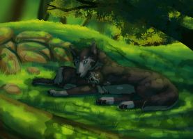 Commission: Father and son by tigon