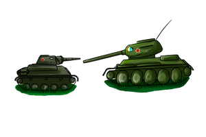 T-70 and T-34-85 by Dino-kLeo