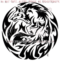 Emotion Wolf Flame Medallion Design by WildSpiritWolf