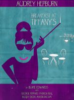 Breakfast at Tiffanys Poster by crilleb50