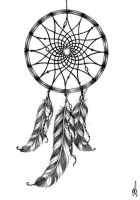 Dreamcatcher tattoo design by RozThompsonArt