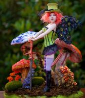 One of a kind Mad Hattress Diva Faerie by incantostudios