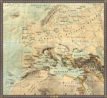 Europe in year 500 B.C. by JaySimons