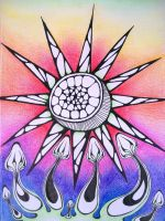 Psychedelic Sun and Shrooms by KCJoker33
