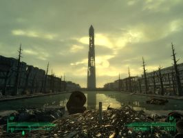 Fallout 3 - DC Monument by Half-dude