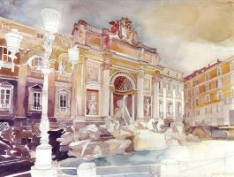 Trevi Fountain by takmaj