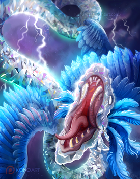 Smite: Diamond Kukulkan Fan Art by KonoArt