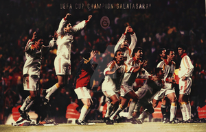 Galatasaray Uefa Cup Wallpaper by acemogluali
