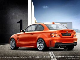 BMW 1M Coupe rear quarter view by jonsibal